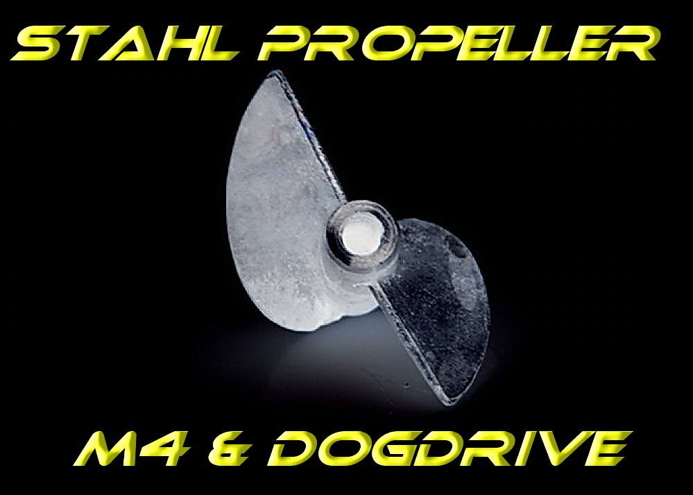 Stainless Steel Propeller M4 & Dog Drive System - limited edition -