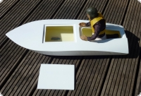 Choppy Fiberglas 1:5 Outboard-Racer model