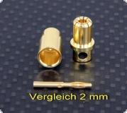 Goldkontaktstecksystem 8 mm Stecker&Buchse