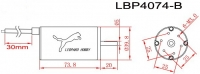 Leopard LBP4074-B/2Y Brushless Motor 4polig 2150kV