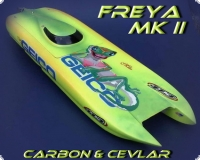 Freya Mk II WE in carbon&aramid sandwich laminate Complete package set