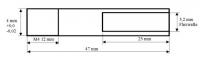 Ersatzflexwelle 3,2 mit 4 mm Welle und M4 Gewinde