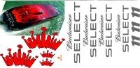 Budwieser SELECT Dekorsatz f. Boote 1100 bis 1300 mm