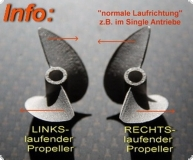 Alu Propeller Hydro 48 mm mit Dog Drive -RTR- LINKSLAUFEND