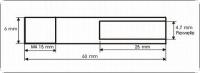 Wellenschaft einzeln A: 6 mm für M4 Gewindepropeller