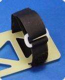 Klett-Kabelbinder mit Umlenk-Öse - lösbar - 400 mm - ROT - Extralang