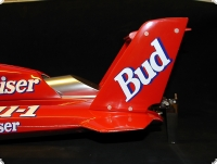 T-4  Twin Wing Hydroplane MS 1:10 red hull Version