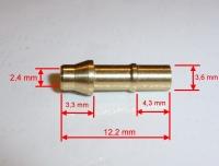 Anschlußnippel mit 3,6 mm / Innen 2,4 mm