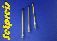 3 x Pieces Set Antenna system 2.4 GHz with aluminum socket with yellow safety tube