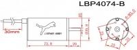 LBP4074-B/3D Brushless Motor 4polig 1650kV