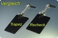 Ruderanlage Eco - vollmetall - Ruderblatt 40x25x19 mm Stahl Trapezform