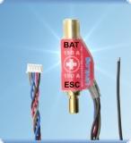 Sensor f. Strom 150 A mit 6 mm LMT Goldkontakt (für Akkus mit mit Stecker am Pluspol)