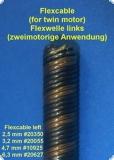Flexwelle 2,5 / 500 mm links