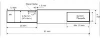 Ersatzflexwelle 3,2 mit 5 mm Welle und 4,7 DD