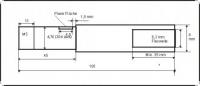 Ersatzflexwelle 6,3li. mit 8 mm Welle und 4,7 DD Flexwelle in linkslaufend.