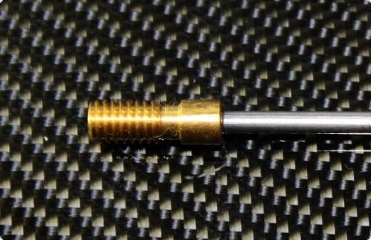 Ersatzwelle 2 mm mit Gewinde M4 200 mm