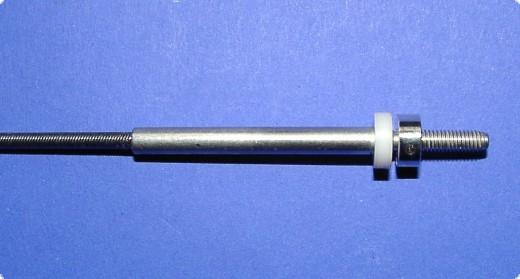 Ersatzflexwelle 3,2 mit 5 mm Welle und M4 Gewinde