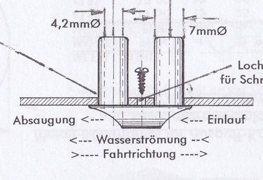 Kühlwassereinlaß/Auslaß klein  Kunststoff