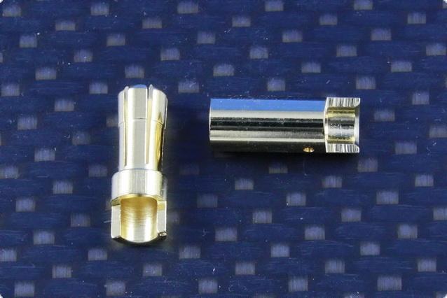 Goldkontakt 5,5 mm Stecker&Buchse - Preiswerte Version -