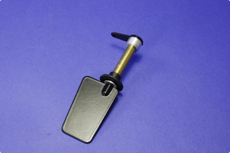 Ruderanlage Mini-Eco - vollmetall - Ruderblatt 30x22x16 mm Stahl Trapezform