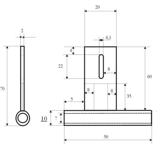 Wellenhalter BO 5/7 inkl. 5 mm Teflonlager ( 2 x)  und Konus