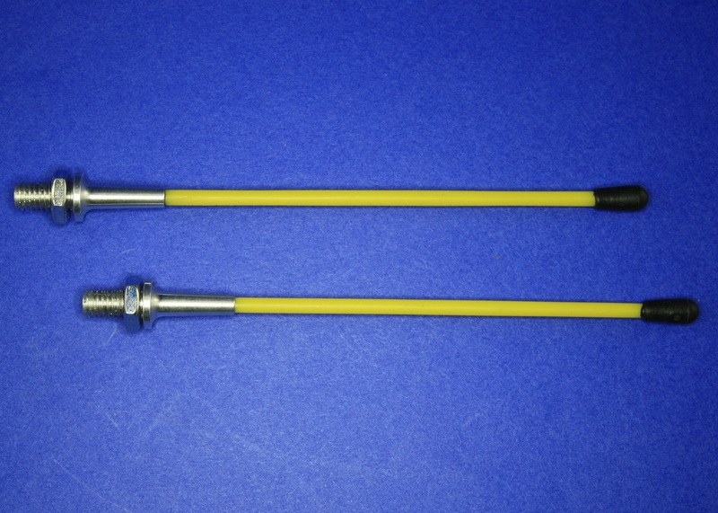Antenna system 2.4 GHz with aluminum socket with yellow safety tube