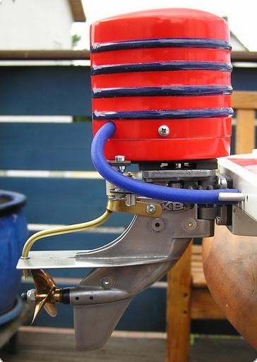 Verkleidung f. 3,5 K&B Außenborder im Retro Look 3  ROT