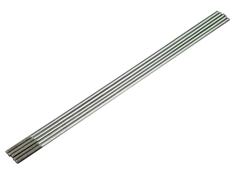 Schubstangen M2  2,1 x 200mm mit Teilgewinde (5Stück)