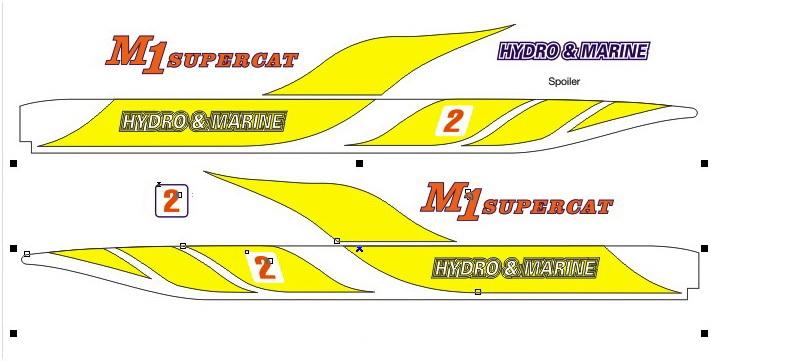 M-1 XL Dekorsatz gelb