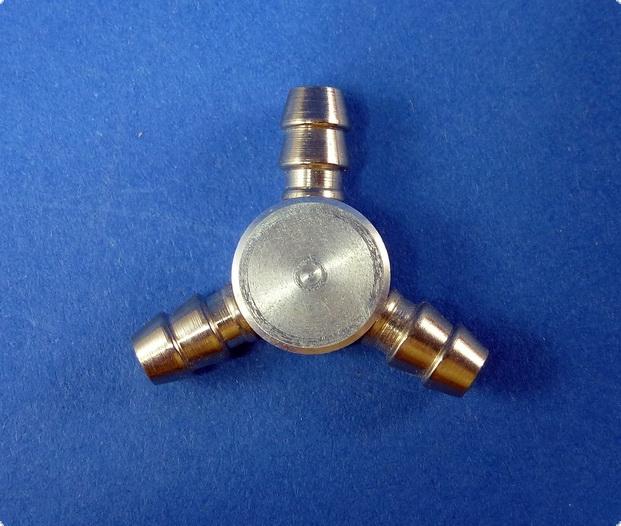Schlauchverbindung Y-Verteiler Metall -Innen 2,6 mm