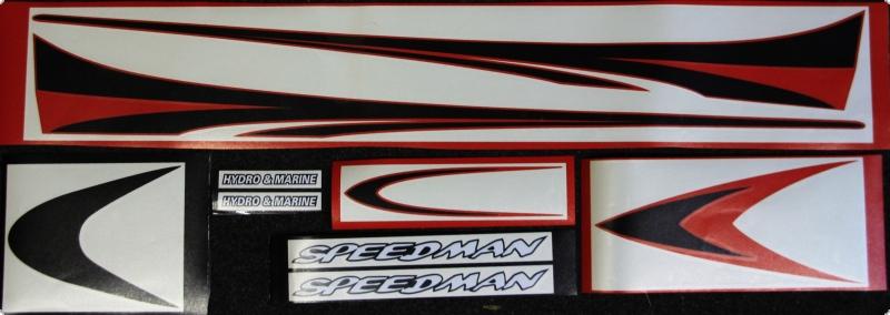 Speedman Dekorsatz 2 Schwarz - Rot