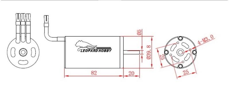Leopard LBP4082/2Y Brushless Motor 4polig -1600kV-