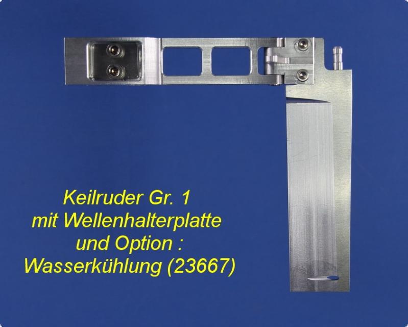 Keilruder Gr. I - 110 mit Wellenhalterplatte