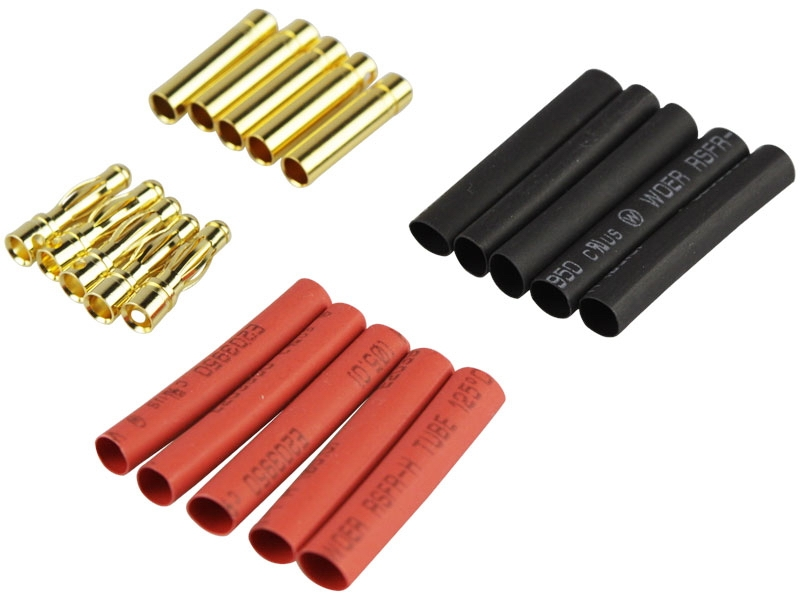 Gold contact 4 mm² 5 Pck SET