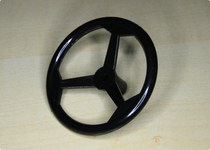 Steuerrad Schwarz Kunststoff 44 mm