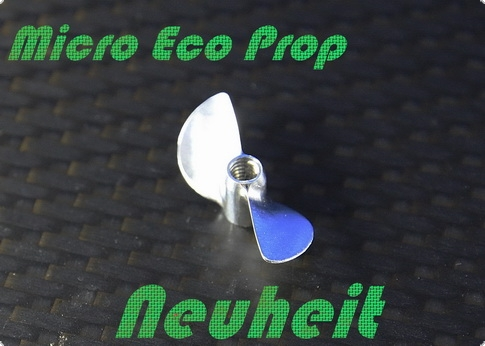 Alu Propeller Mini-ECO 26 mm mit M4 Gewindesystem