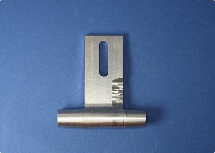 Wellenhalter C - Alu kurz 8/10 mit Teflonmetalllager