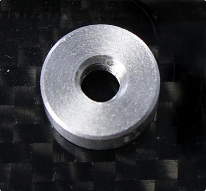 Druckmutter Alu 10 mm mit M4 Gewinde