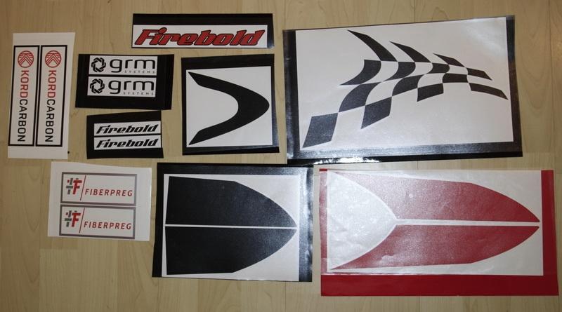 Firebold Dekorsatz rot/schwarz