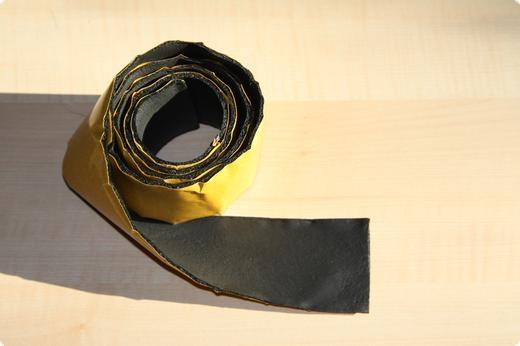 Kautschukband selbstklebend 5 mm Stark x 50 mm Breit x 1000 mm Länge