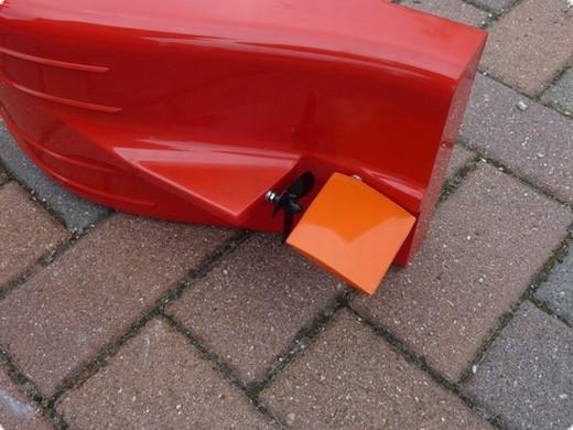 Ruderanlage Turtle  Spezialruderanlage (Blatt 67x61 mm) in GfK laminiert