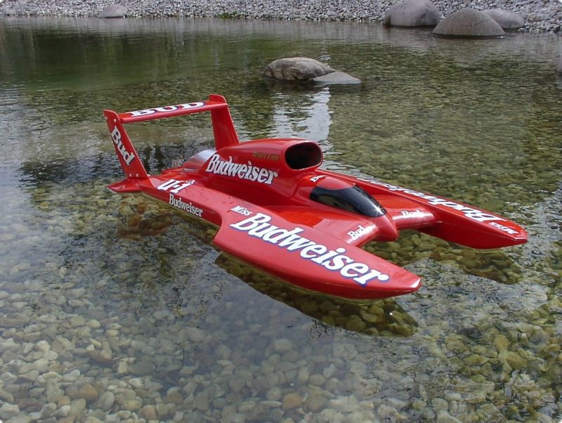T-4  Twin Wing Hydroplane MS 1:10 WE  Sonderedition BULLET PROOF