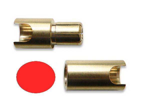 Goldkontaktstecker 6 mm Buchse, einzeln - Original Lehner - die neue Genereation -