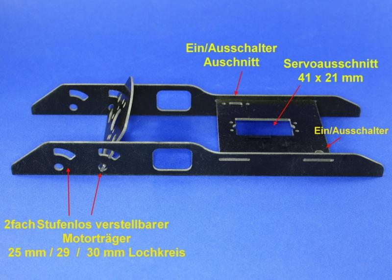 Einbaurahmen  2 f. Motoren mit 25/29/30 mm Lochkreisdurchmesser