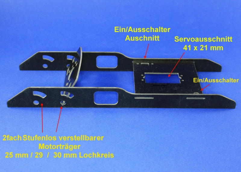 Einbaurahmen  2 f. Motore 700/500/600/290/19