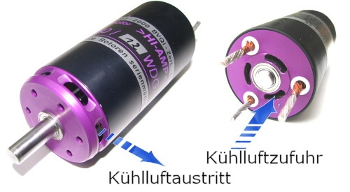 E-Motor Lehner Bürstenlos 1540 high amp Version