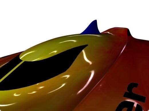 Intruder  Skeg Haifischflossen-Griff für Intruder