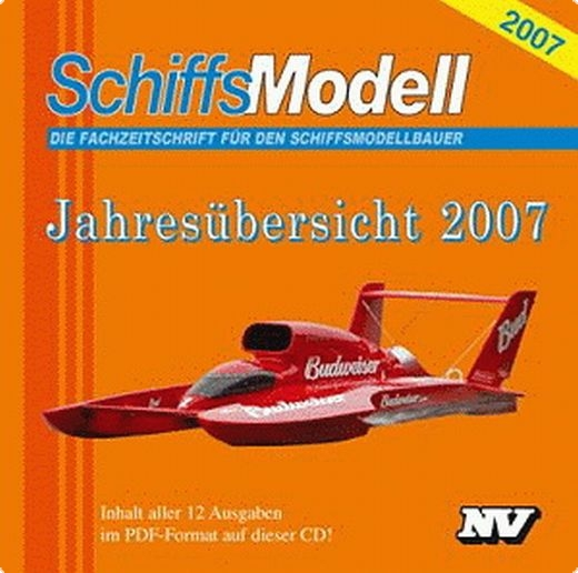 Schiffsmodell 2007 Jahrgangs-CD