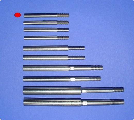 Wellenschaft einzeln A:4 mm / für M4 / 3,2 Flex