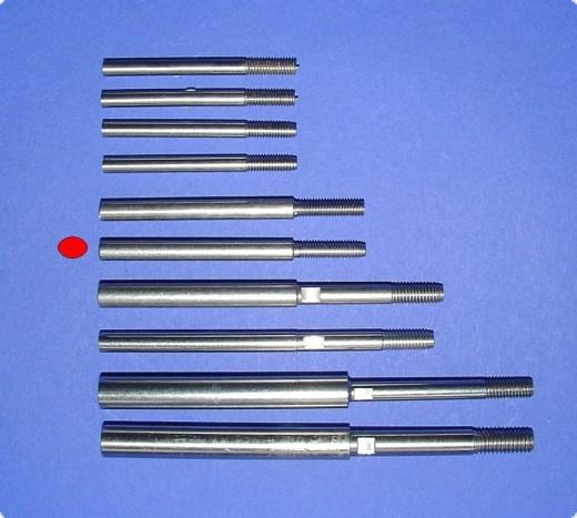 Wellenschaft einzeln A: 6 mm für M5 Gewindepropeller